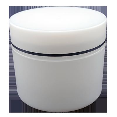 צנצנת 100 מיל פלסטיק לבנה
