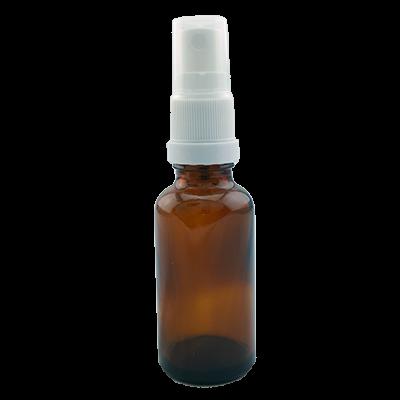 בקבוק זכוכית חום עם מתז 30 מיל